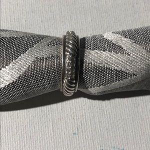 Authentic Brighton Silver / Rhinestone Ring - Sz 9
